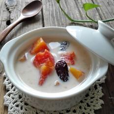牛奶红枣炖木瓜