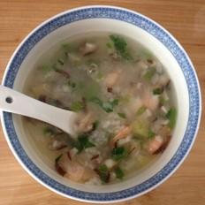 香菇鲍鱼鲜虾粥