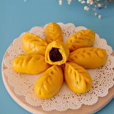 柳叶南瓜豆沙包