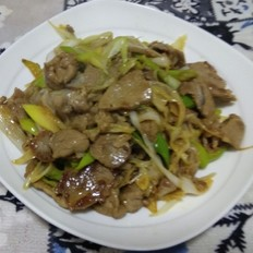 大葱炒羊肉#午餐#