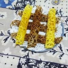 双色蕾丝鸡蛋卷(玉米油版)