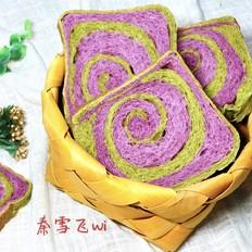 紫薯抹茶土司
