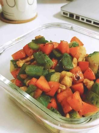 时蔬鸡丁的做法
