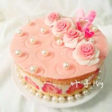 黄油忌廉草莓蛋糕