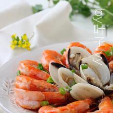 鲜虾蒸白贝