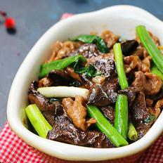 松蘑炒肉片