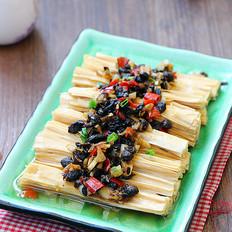 豆豉蒸腐竹