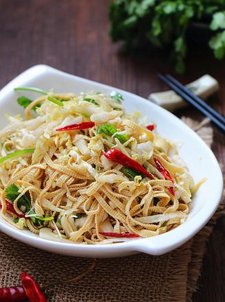 白菜心拌豆腐丝的做法