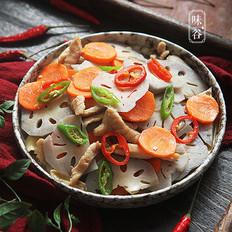 胡萝卜炒藕片