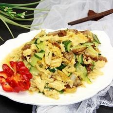 腐竹黄瓜炒五花肉