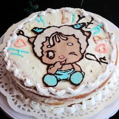 萌羊生日蛋糕