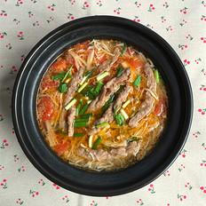 酸汤金针菇肥牛卷#晚餐#