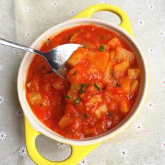 土豆西红柿浓汤#夜宵#