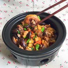 花菇焖烧土鸡肉