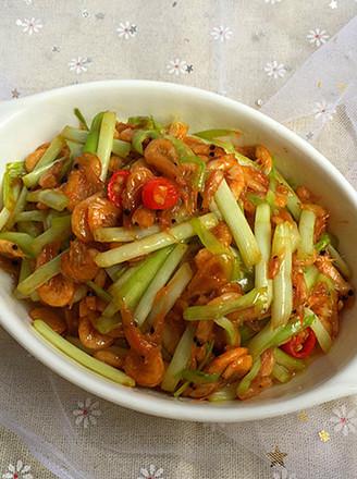 韭黄炒南极鳞虾的做法