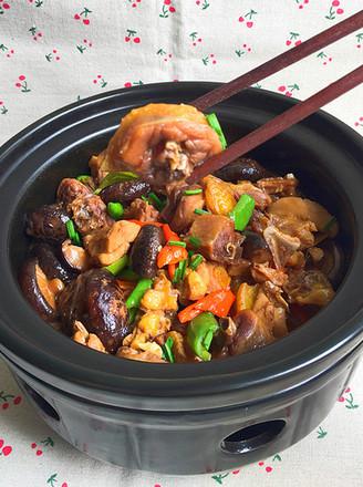 花菇焖烧土鸡肉#午餐#的做法