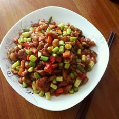 蒜苔炒肉丁