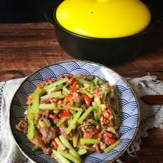 芹菜炒牛肉(砂锅版)
