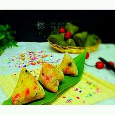 彩米花生香菇肉粽