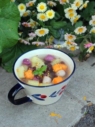 苹果芋圆甜汤的做法