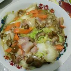 滑子蘑炖白菜