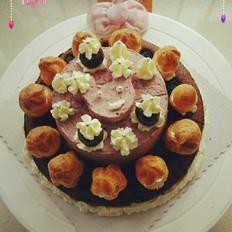 黑樱桃巧克力奶油塔