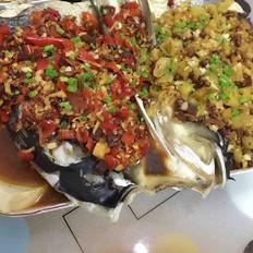 剁椒双色豆腐鱼头