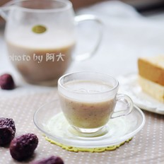 养颜红枣豆浆