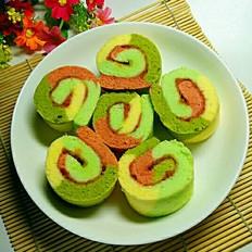 果酱彩色蛋糕卷