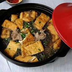 红薯粉丝豆腐煲