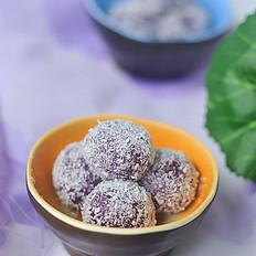 椰丝紫薯糕
