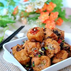 春节宴客菜——油豆腐塞肉