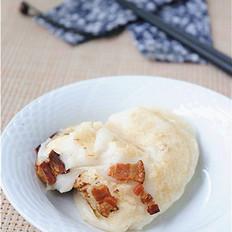 最具湖南特色的小吃——腊肉煎糍粑
