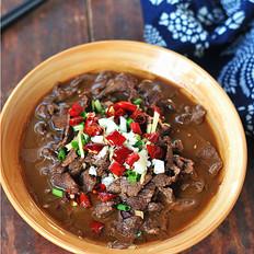 水煮豆腐牛肉片
