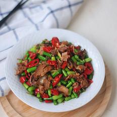 蒜苔炒卤牛肉
