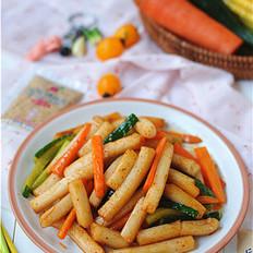 蔬菜沙拉炒年糕丘比沙拉汁