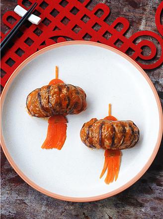 给小朋友定制的年夜菜——灯笼茄子的做法