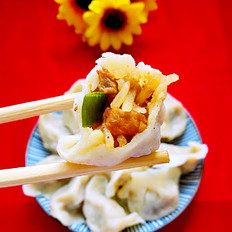 臊子肉萝卜馅饺子