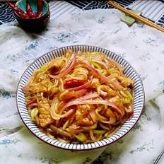 洋葱烩粉条#午餐#