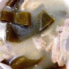 小排骨海带淡菜汤