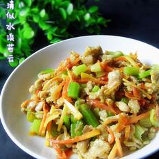 咖喱芹菜肉丝