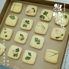 香菜印花黄油饼干