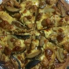 香菇鸡肉全麦披萨