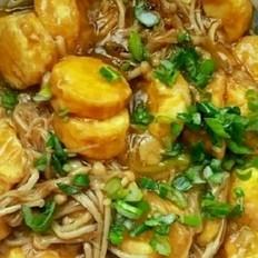 日本豆腐酱浇金针菇