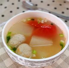冬瓜西红柿贡丸汤