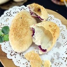 紫薯牛舌饼