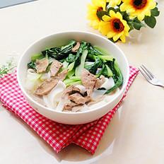 猪肝白菜汤米面