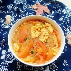 番茄鸡蛋汤粉丝