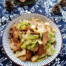 猪肝炒白菜