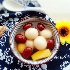 红枣姜汤圆